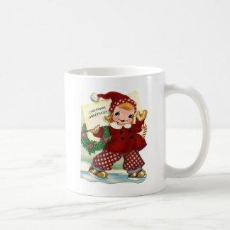 De rode Groeten van Kerstmis Koffiemok