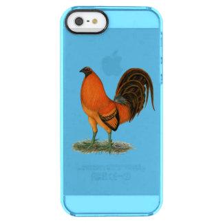 De Rode Haan van de Gember van de kemphaan Doorzichtig iPhone SE/5/5s Hoesje