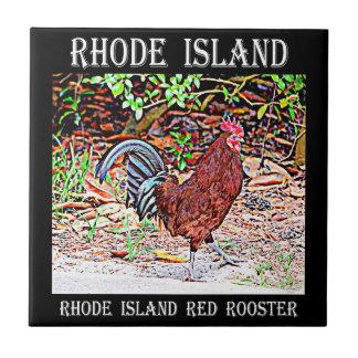 De Rode Haan van Rhode Island Tegeltje