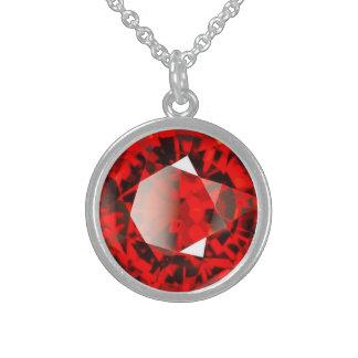 De rode Halfedelsteen Januari Birthstone van de Sterling Zilveren Kettingen