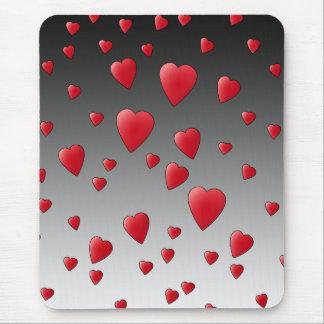 De rode Harten van de Liefde. Patroon Muismatten