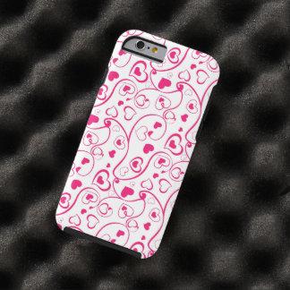 de rode harten wervelen vectorart. tough iPhone 6 case