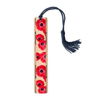 De rode Hartstocht bloeit Patroon Esdoorn Bladwijzer
