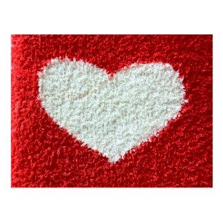 De rode hartstof sparen het datumbriefkaart breit briefkaart