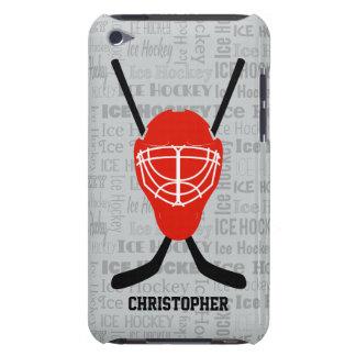 De rode Helm van het Ijshockey en de Typografie iPod Touch Hoesje