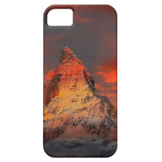 De Rode Hemel van Zwitserland Matterhorn Zermatt Barely There iPhone 5 Hoesje