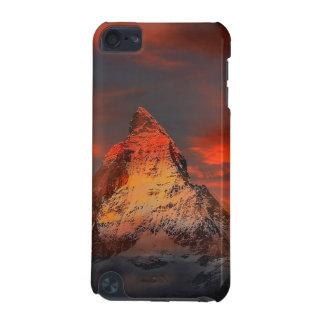 De Rode Hemel van Zwitserland Matterhorn Zermatt iPod Touch 5G Hoesje