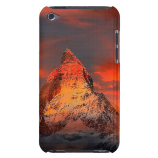 De Rode Hemel van Zwitserland Matterhorn Zermatt iPod Touch Hoesje
