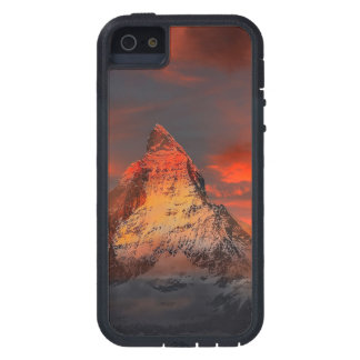 De Rode Hemel van Zwitserland Matterhorn Zermatt Tough Xtreme iPhone 5 Hoesje