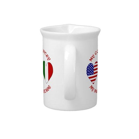 De rode Italiaanse Erfenis van het Land van de V.S Pitcher