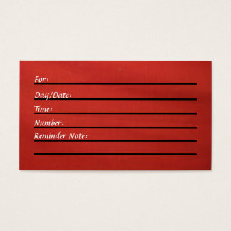 (De rode) Kaart van de benoeming Visitekaartjes