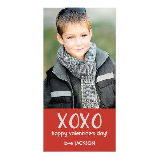 De rode Kaart van de Foto van XOXO Valentijn Fotokaart Sjabloon