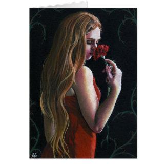 De rode Kaart van de rozen van de Anjer van Dame