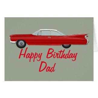 De rode Kaart van de Verjaardag van Cadillac