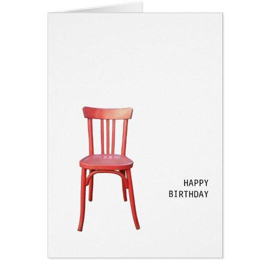 De rode kaart van de verjaardag van de stoel zazzle - Stoel rode huis van de wereld ...