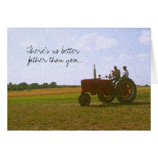 De rode Kaart van het Vaderdag van de Tractor