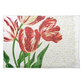 De rode Kalligrafie van Tulpen Placemat