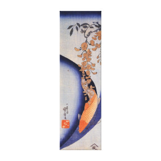 De Rode Karper van Kuniyoshi van Utagawa onder Canvas Afdrukken