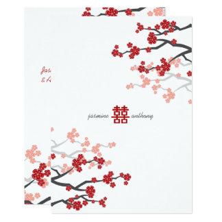 De rode Kers Sakura komt het Chinese Huwelijk van Kaart