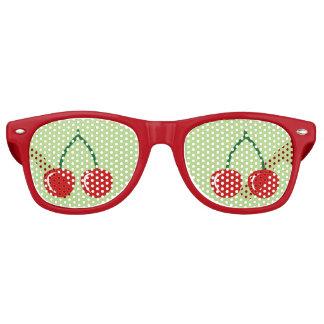 De rode kersenpartij stelt | Grappige Retro Zonnebril