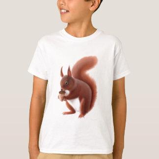 De rode Kinder T-shirt van de Eekhoorn