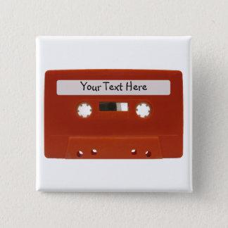 De rode Klantgerichte Knoop van de Band van de Vierkante Button 5,1 Cm