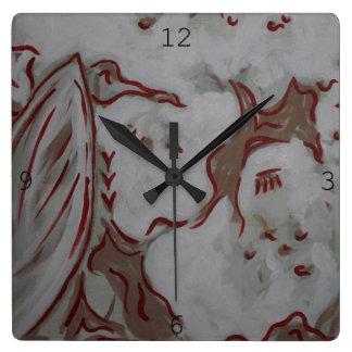 De rode Klok van Eagle Vierkante Klok
