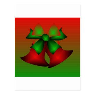 De Rode Klokken van Kerstmis Briefkaart