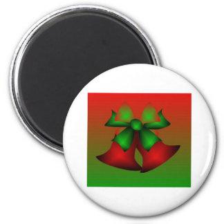 De Rode Klokken van Kerstmis Koelkast Magneten