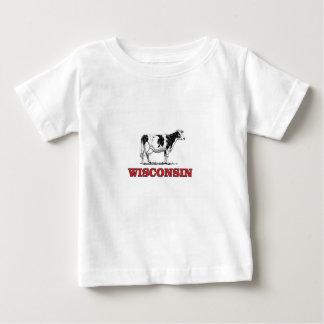 de rode koe van Wisconsin Baby T Shirts
