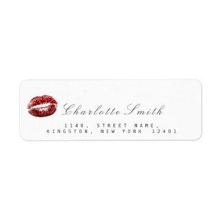 De rode Make-up Witte RSVP van de Kus van Lippen Etiket