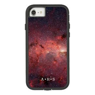 De rode Nevel personaliseerde Initialen Case-Mate Tough Extreme iPhone 7 Hoesje