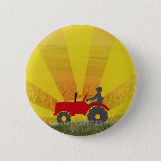 De rode of Groene Knoop van de Tractor Ronde Button 5,7 Cm