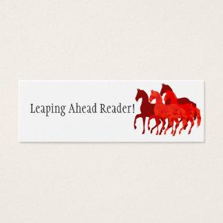 De rode Paarden van de Waterverf   het Lezen Mini Visitekaartjes