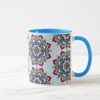 De Rode Paarse Lichtblauwe Kop van de Koffie