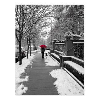 De rode Paraplu Briefkaart