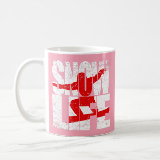 De rode pensionair van het LEVEN van de SNEEUW Koffiemok