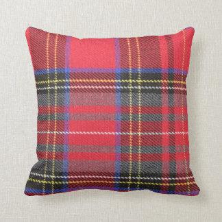 De rode Plaid van het Geruite Schotse wollen stof Sierkussen