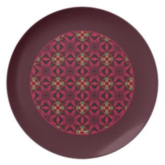 De rode Poinsettia vatten Grens 2 samen Melamine+bord