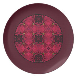 De rode Poinsettia vatten Grens 3 samen Melamine+bord