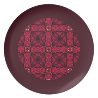 De rode Poinsettia vatten Grens 9 samen Melamine+bord