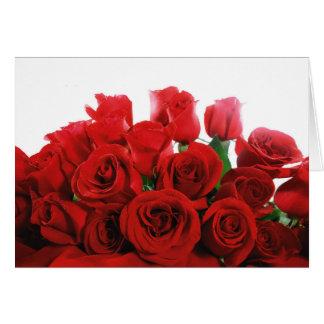 De rode Rode Kaart van de Valentijnsdag van Rozen