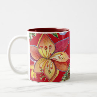 De rode rode Mok van de Orchidee