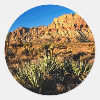 De Rode Rots Nevada van de canion Ronde Sticker