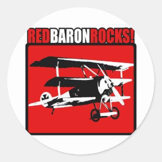 De rode Rotsen van de Baron! Ronde Stickers