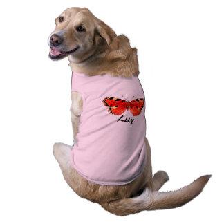 De rode Roze Geribbelde Tanktop Doggie van de Mouwloos Hondenshirt