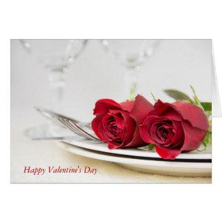 De Rode Rozen van Valentijn op bord Kaart