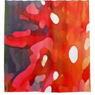 De rode Samenvatting van de Zon door Amy Vangsgard Douchegordijn