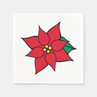 De rode Servetten van de Partij van Kerstmis van Wegwerp Servetten