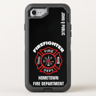 De rode Sjabloon van de Naam van de OtterBox Defender iPhone 8/7 Hoesje